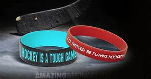 Athletic Fonts Hockey Wristbands Stylish Sports Bracelets
