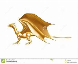 Royalty Free Stock Photos: Golden fire dragon. Image: 44587588