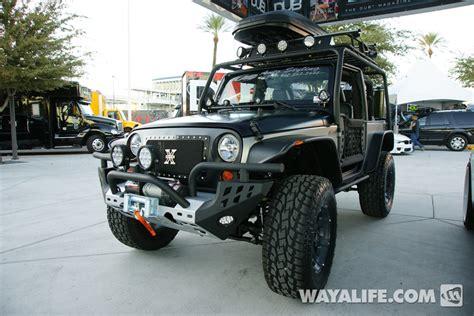 jeep wrangler 2 door modified 2012 sema kao custom black silver 2 door jeep jk wrangler