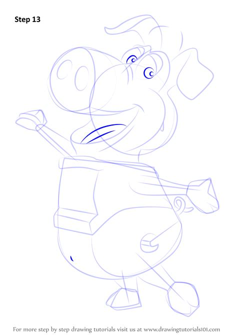 learn   draw pig  wordworld wordworld step