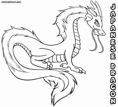 Dragon Coloring Japanese