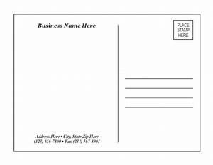 Postcard template 1 for Postcard size template word
