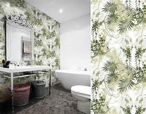Papier Peint Pour Salle De Bain : papiers peints pour une salle de bain tropicale blog au ~ Dailycaller-alerts.com Idées de Décoration