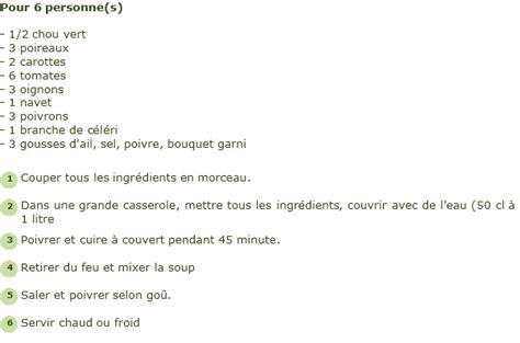 recette de cuisine pour maigrir recette soupe pour maigrir facile et rapide