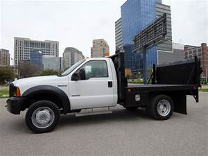 2005 Ford F450 Xl Diesel 2wd Auto Dually Flatbed Power