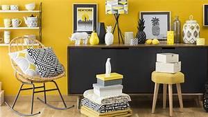Décoration Salon Jaune Moutarde : s lection d co graphique en jaune et noir shake my blog ~ Melissatoandfro.com Idées de Décoration