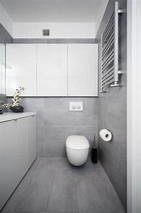 Bilder Moderne Badezimmer : badezimmer modern einrichten graue fliesen wei e badm bel grifflos unser traum vom haus ~ Sanjose-hotels-ca.com Haus und Dekorationen