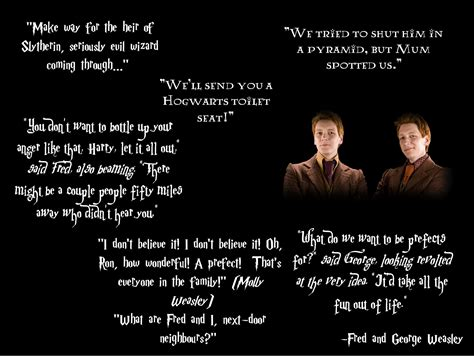 Fred And George Weasley Funny Quotes Quotesgram