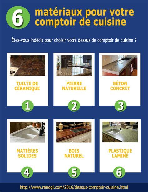 dessus de cuisine 6 matériaux pour votre dessus de comptoir de cuisine