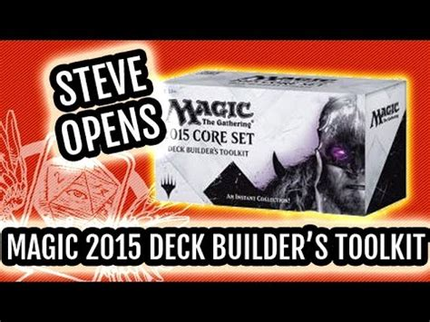 magic 2015 set m15 deck builder s toolkit unboxing let s build