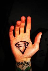 Black Ink Illuminati Eye Tattoo On Hand Palm