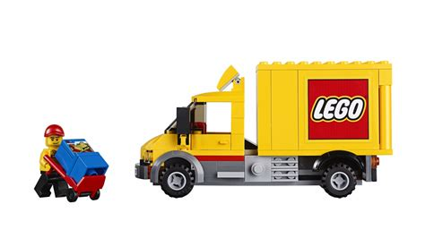 lego truck lego city yellow delivery truck lorry taken from set 60097