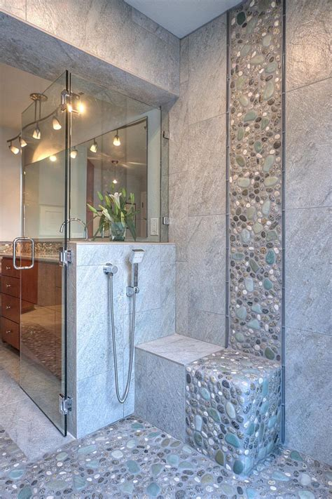 grey natural stone bathroom tiles ideas  pictures