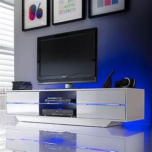 Tv Möbel Mit Led : tv lowboard beleuchtung wei hochglanz tv hifi rack ~ Pilothousefishingboats.com Haus und Dekorationen
