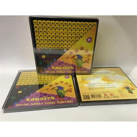 Spēle Erudīts   Educational toys, Book cover, Cover