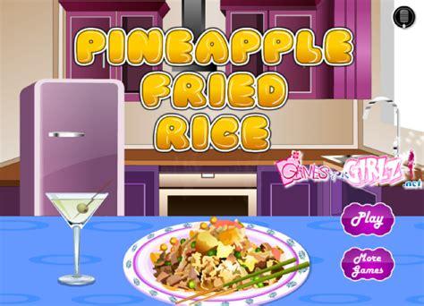 jeu cuisine jeu de cuisine riz aux ananas