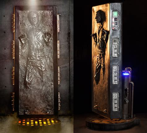Storage In Closet by Lifesize Star Wars Han Solo Frozen In Carbonite Statue