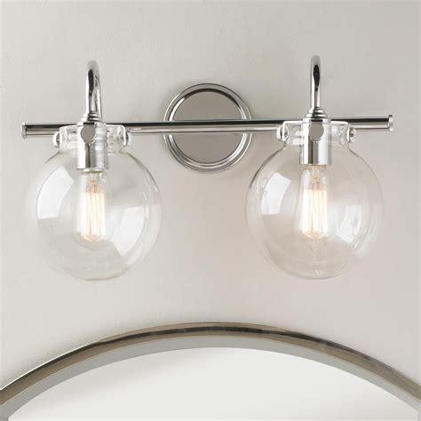 bathroom lighting fixtures retro glass globe bath light 2 light bath light globe