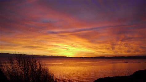 victoria bc sunset video dallas road beacon hill