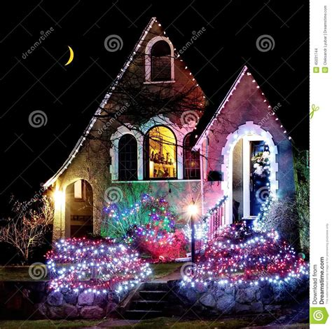 Christmas Night Stock Photo Image Of Traditional, Door