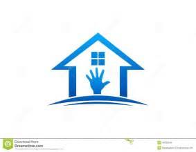 home interiors logo house and logo home work interior and exterior home care furniture design vector stock