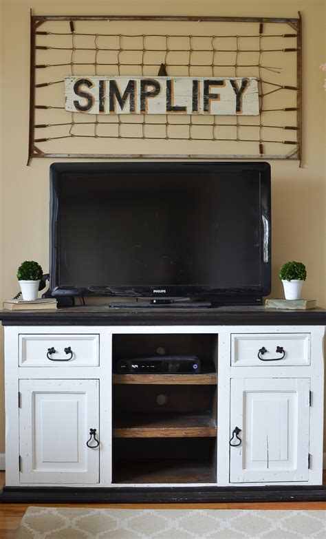 white farmhouse tv stand easy farmhouse style tv stand makeover vintage nest 1296