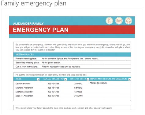 emergency preparedness plan template best photos of sle computer disaster recovery plan family emergency plan card sle