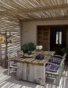 Pergola En Bambou : pergola bois avec toit canisse et bambou sur terrasse ~ Premium-room.com Idées de Décoration