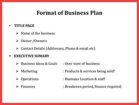 Formal Business Plan Format