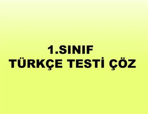Testi Coez 1 Sinif Turkce Testi Coz Test 199 246 Z Test Deneme