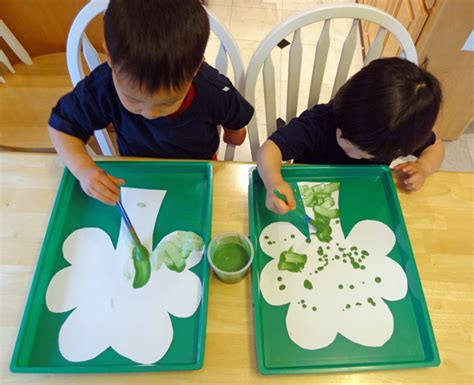 activities for preschoolers on green colour day coloring 701 | Magic fizzing shamrocks 2