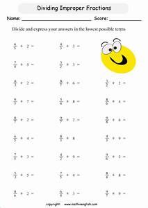 Improper Fractions Grade 5 Worksheets - fraction ...