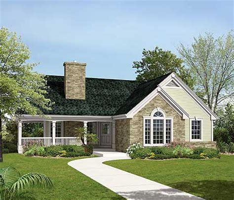 country home plan   sloping lot ha st floor