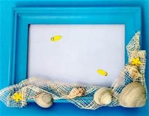 Cadre à Décorer : d coration de cadre photo en coquillages trucs et deco ~ Zukunftsfamilie.com Idées de Décoration