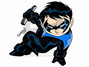 CHIBI NIGHTWING COLORED by CHIBIWORLD on DeviantArt