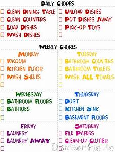 My Cleaning Schedule Clean House Chores For Kids Cleaning