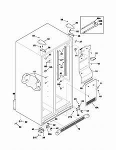 Frigidaire Refrigerator Cabinet Parts