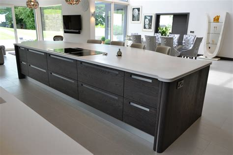 Zebrano Kitchen Island by Stunning Stoneham Kitchen In Anthracite Oak With Black And