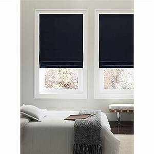 real simpler cordless 31 inch fabric roman shade in navy With 31 roman shade