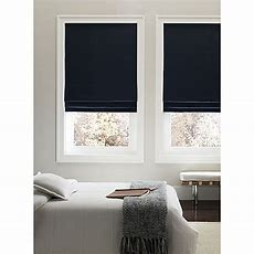 Real Simple® Cordless 31inch Fabric Roman Shade In Navy
