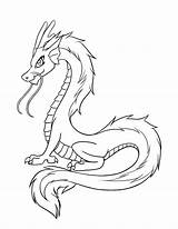 Dragon Coloring Pages Cartoon sketch template