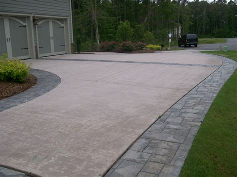 driveway borders concrete sted border driveway with broom finish interior
