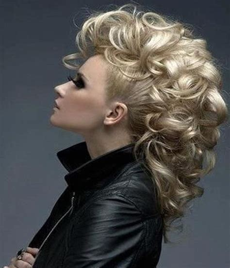 Mohawk Updo Hairstyles by Trendy Mohawk Updos Hair Updo Curly Hair Styles