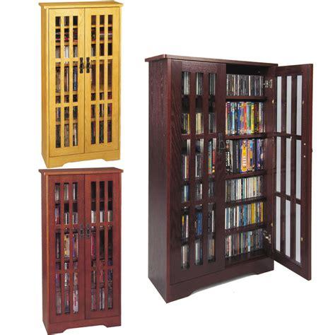 cd dvd storage cabinet leslie dame cd storage cabinet with glass doors oak