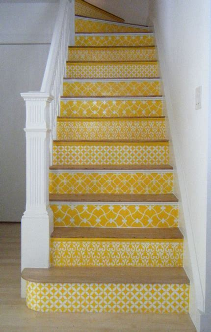 Stair Rising Experience: Stenciled Stairs   Paint   Pattern