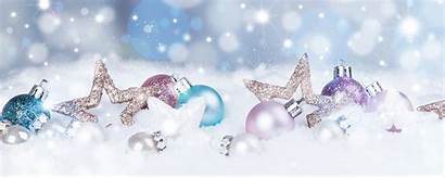 Holiday Holidays Happy Banner Background Snow Ornaments