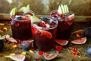 Autumn Sangria with Apples, Pomegranate and Figs - Heather