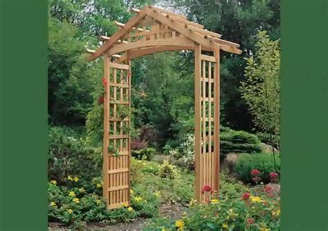 Small Wooden Trellis by Wooden Garden Arbors