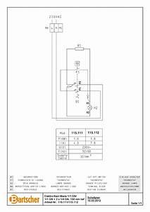 Bartscher 115112 Bain Marie 650  W600  1  1gn 2x1  4 Wiring