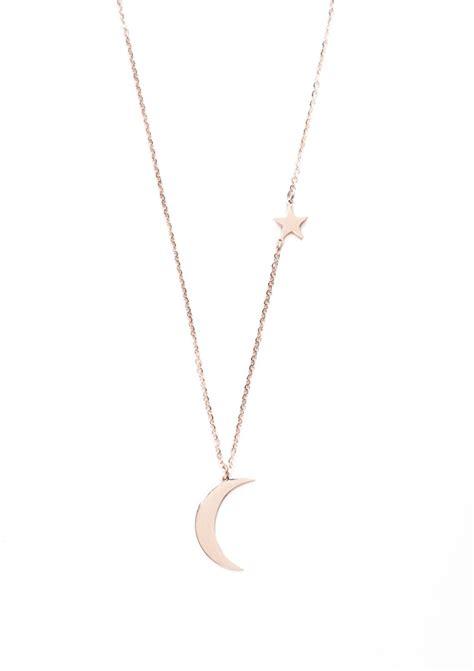 collier lune et étoile plaqué or rose blog